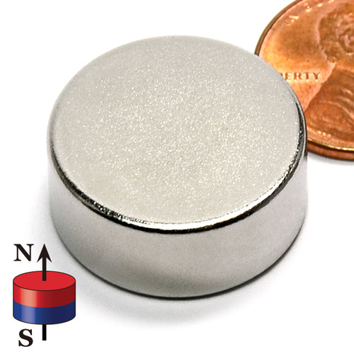 "7/8X3/8"" NdFeB Rare Earth Disc Magnet"