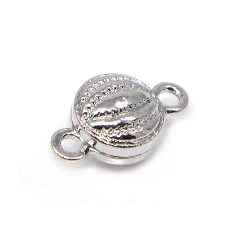 Silver Pumpkin Neodymium Magnetic Bracelet Clasp