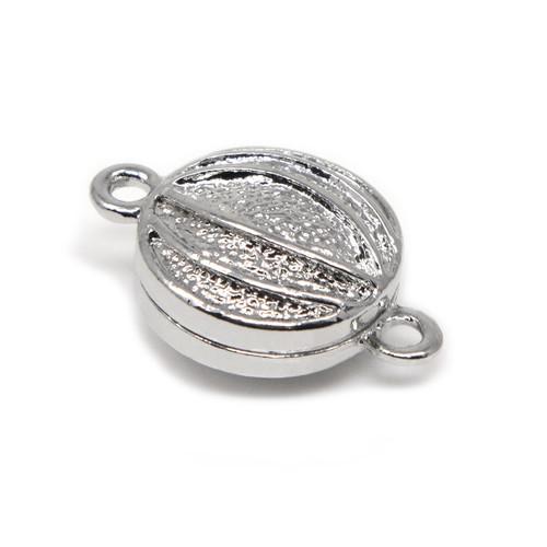 "<img src=""Large Silver Pumpkin Neodymium Magnetic Bracelet Clasp Magnetic Bracelet Clasp.png"" alt="" magnetic jewelry clasps strong magnetic clasps for jewelry"">"