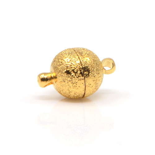 """<img src=""""Bracelet Clasp, Magnetic Gold Sandstone Finish Round (CK-035J) Magnetic Bracelet Clasp.png"""" alt="""" magnetic jewelry clasps strong magnetic clasps for jewelry"""">"""