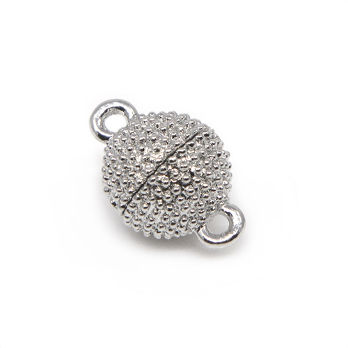 """<img src=""""Silver Plated Beaded Texture Neodymium Magnetic Bracelet Clasp  Magnetic Bracelet Clasp.png"""" alt="""" magnetic jewelry clasps strong magnetic clasps for jewelry"""">"""