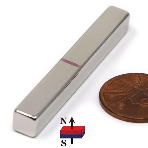 "N45 2""x1/4""x1/4"" Neodymium Rare Earth Block Magnet"