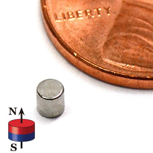 "Neodymium Cylinder Magnet N40 0.095""x0.1"""