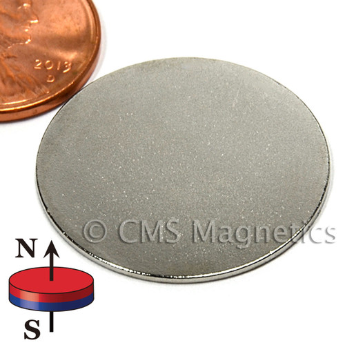"1X1/32"" NdFeB Rare Earth Magnet N45 disc magnet, N45 Disc Magnets"