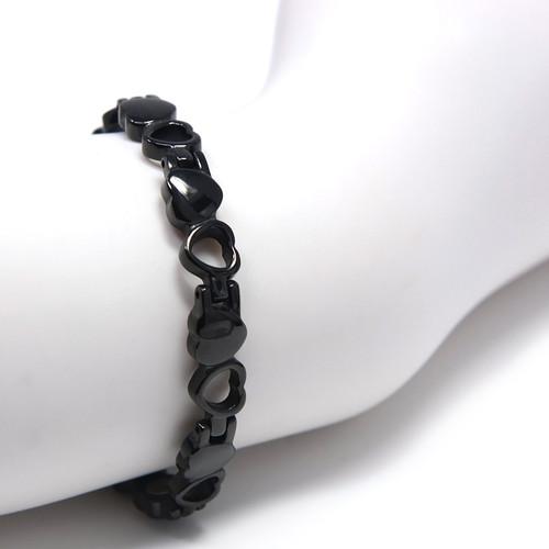 "<img src="" Small black Neodymium magnets.png"" alt=""neodymium disc magnets strong  side view Magnetic  bracelet Jewelry Novoa Women 's Titanium  Black Heart  B185QD-0"">"