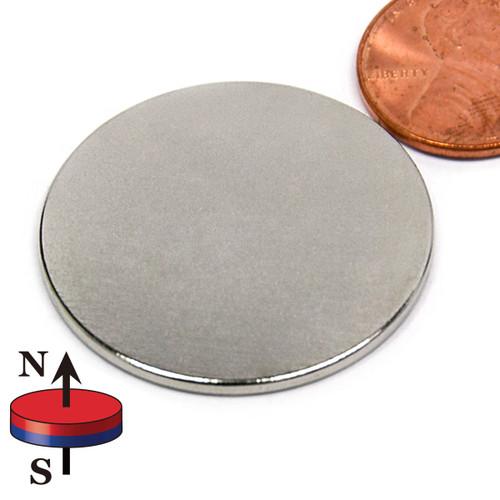 "1 1/4X1/16"" N45 Neodymium disc Magnet"