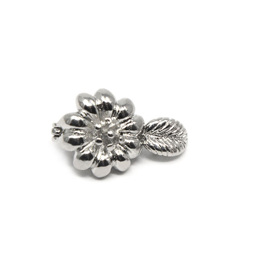 "<img src="" Silver Colored Sunflower Neodymium Magnetic Bracelet Clasp .png"" alt=""casual Magnetic Bracelet Clasp  strong  top view         "">"