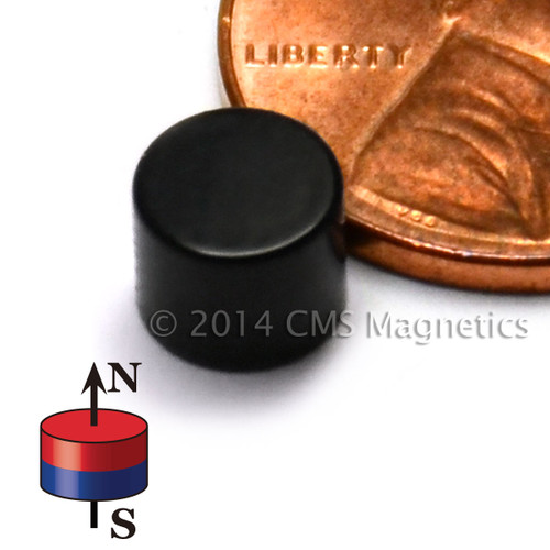 """Neodymium Magnets Epoxy Coated N52 Neodymium Cylindrical Magnet Dia 1/4""""x0.2"""" Epoxy Coated"""