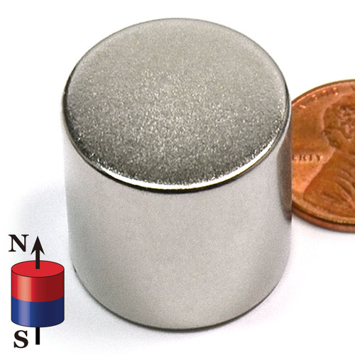 "7/8X7/8"" NdFeB Rare Earth Magnet N52 Neodymium Cylinder Magnet Dia 7/8 x 7/8"" (ND0495-52N)"