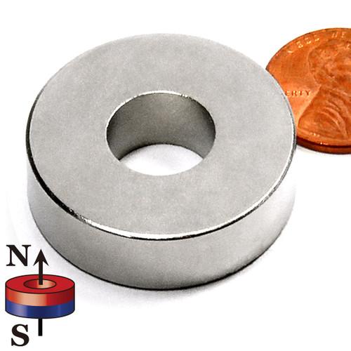 "LIQUIDATION - Ring Magnet  Neodymium N42 1-1/4""OD x 1/2""ID x 3/8"""