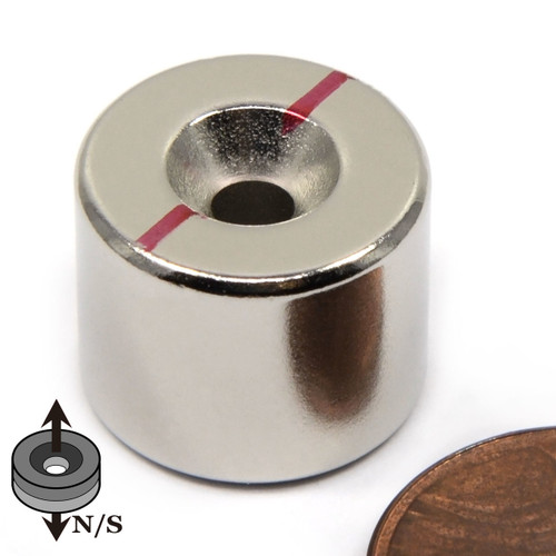"5/8""x1/2"" Neodymium Disc Magnet w/6 Countersunk Hole on Both Sides"