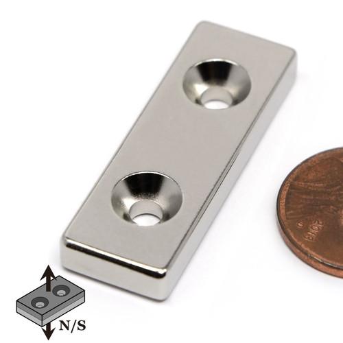 rectangular countersunk neodymium magnets