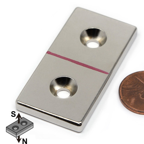 countersunk hole magnets