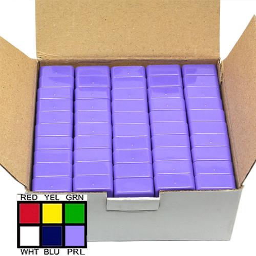 Magnetic Whiteboard Holders Purple Plastic Coated 50 Piece