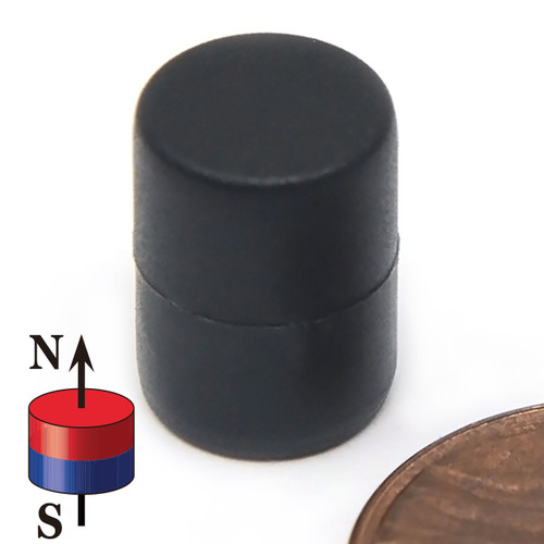"3/8X1/2"" NdFeB Rare Earth Magnet Plastic Coated very strong magnets for sale ,strong neodymium magnet powerful magnet"