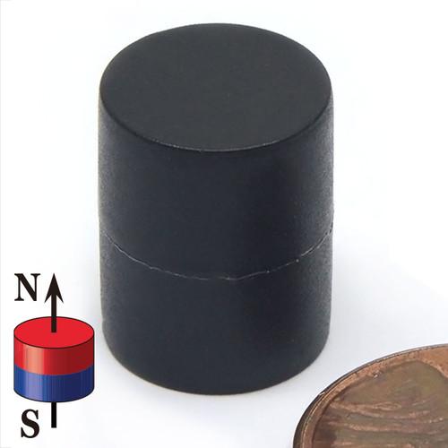 "1/2X5/8"" NdFeB Rare Earth Disc Magnet Plastic Coated"