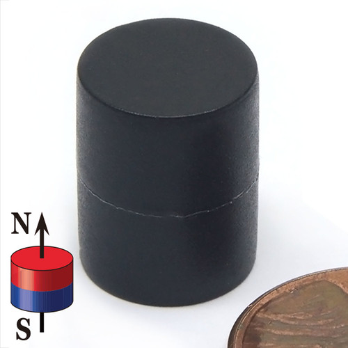 "1/2X5/8"" NdFeB Rare Earth Disc Magnet Plastic Coated"
