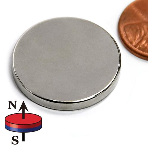 "1""x1/8"" N52 Disc Neodymium Magnet"