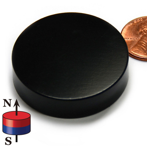 "1 1/2 x 3/8"" N45 Epoxy Coated Neodymium Magnet"