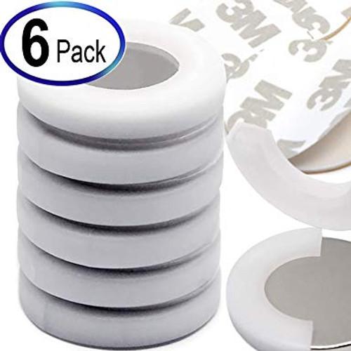 """Neodymium Magnets Dia 1.26x1/8"""" w/ 3M Adhesives, 6 Pack"""