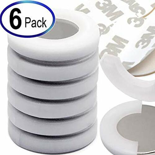 "Neodymium Magnets Dia 1.26x1/8"" w/ 3M Adhesives, 6 Pack"