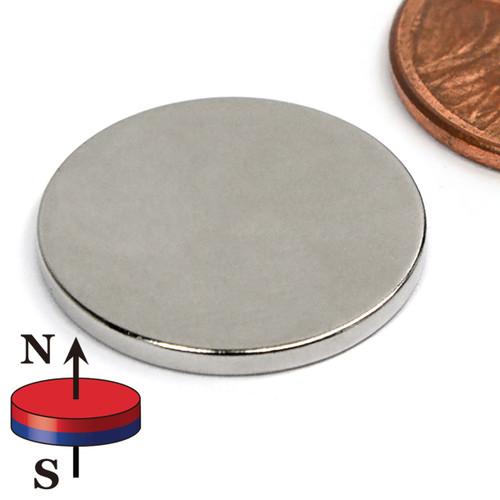"""N42 3/4""""x1/16"""" Neodymium Rare Earth Disc Magnet"""