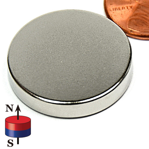 "1""X3/16"" N42 Disc Neodymium Magnet"