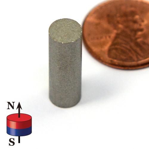"""SmCo Cylinder Magnet 1/4 x 3/4"""""""
