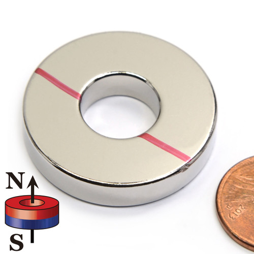 countersunk ring magnet with penny