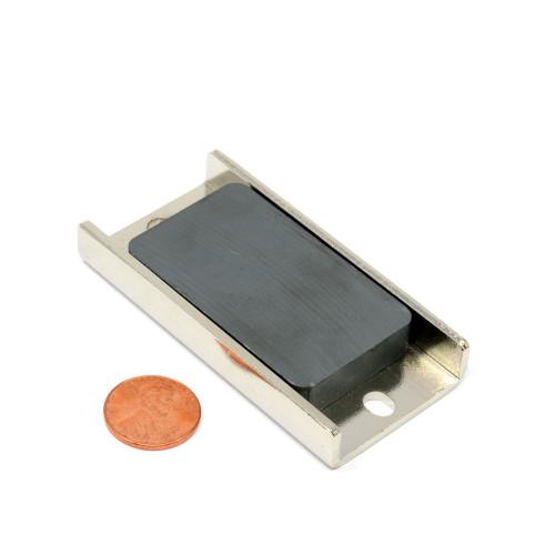 ceramic rectangle pot magnet