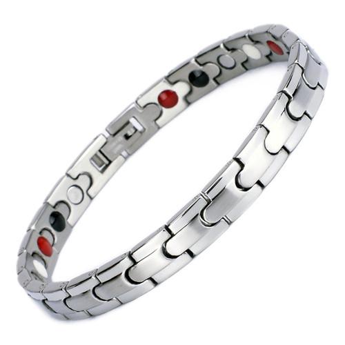 Magnetic Bracelet Novoa Women's Quad-Element Two-Tone Silver - B101