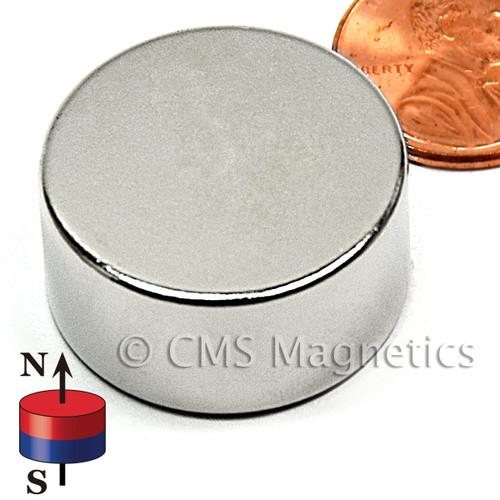 """1X1/2"""" NdFeB Rare Earth N42 Neodymium Disc Magnet 1""""x1/2"""" Rare Earth Disc"""