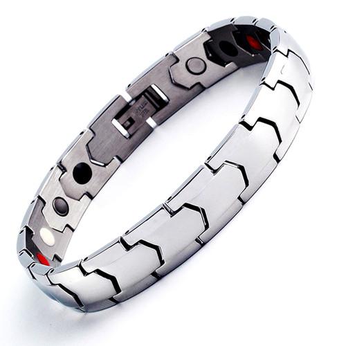 Magnetic Bracelet Novoa Men's Quad-Element Titanium Silver B563