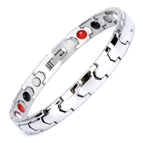 Magnetic Bracelet Novoa Women's Quad-Element Titanium Silver B533