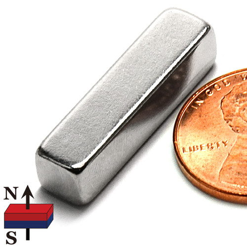 "N50 1""x1/4""x1/4"" NdFeB Rare Earth Magnets"