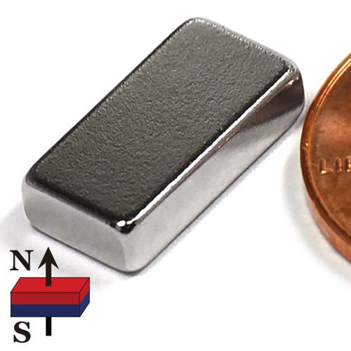 "N52 1/2x1/4x1/8"" NdFeB Rare Earth Magnet"