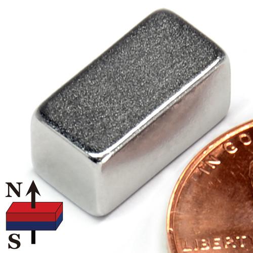 "Rectangle Neodymium Magnet N52 1/2""x1/4""x1/4"" Neodymium Rare Earth Block Magnet"