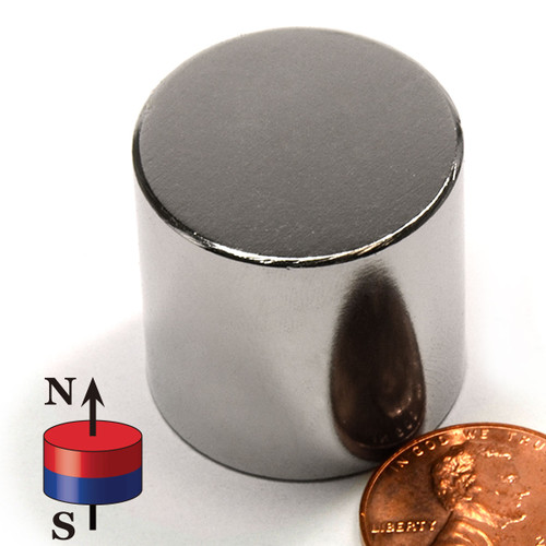 "1X1"" N42 Cylindrical Neodymium Magnet"
