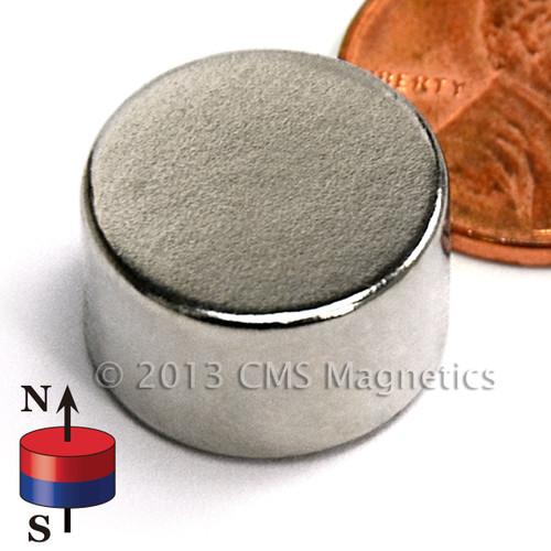 """N52 9/16"""" x 3/8"""" Neodymium Rare Earth Disc Magnet"""