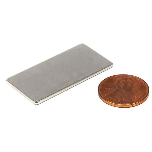 "Flat Bar Magnet N45 1 1/2x3/4x1/16"" Rectangular Rare Earth Magnet (NB021331-45N)"