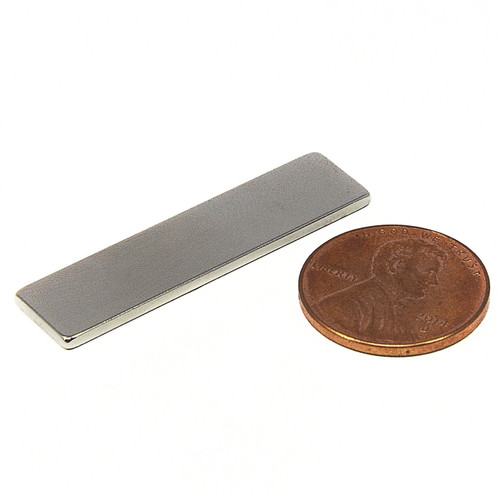 "N52 Bar Magnet 1-1/2x3/8x1/16"" Neodymium Rectangular Magnet 