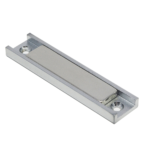 "130 LB Bar Magnet in Channel 3.25 x 3/4 x 1/4"" w/ Countersunk Hole | Rectangular Neodymium Pot Magnet"