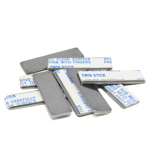 "10 Piece Steel Strikers w/ 3M Foam Adhesve 1.31"" x 0.40"" for Rectangular Bar Magnets"