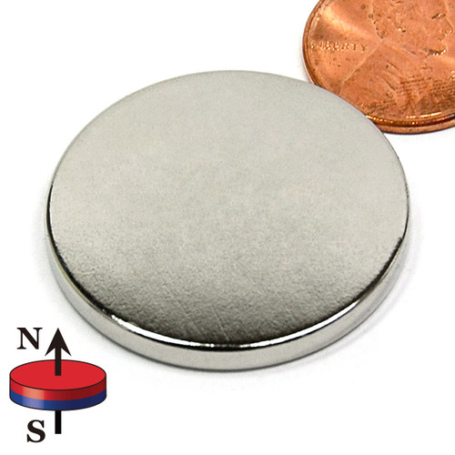 "1 1/4""X1/8"" N45 Neodymium Magnet Disc"