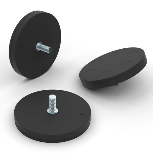 Rubber Coated Disc Magnets
