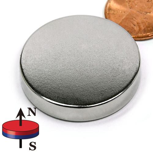 "1 1/4""X1/4"" N45 Disk Neodymium Magnet"