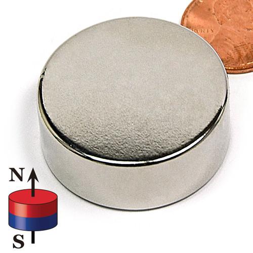 "1 1/4X1/2"" N42 Disc Neodymium Magnet"