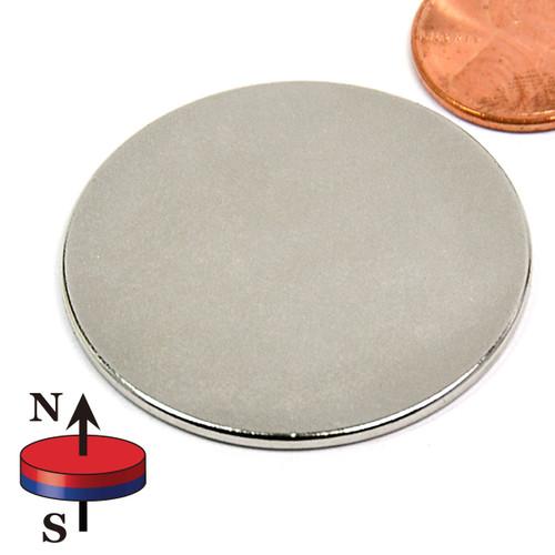 "1 1/2""X1/16"" N45 Disc Neodymium Magnet"