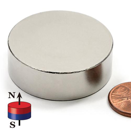"1 1/2X1/2"" N45 Neodymium Magnet"