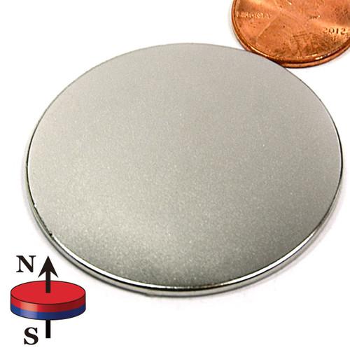 "1 3/4X1/16"" N45 Disc Neodymium Magnet"